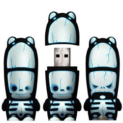 The ultimate mimobot for Halloween or holiday stocking stuffers... the RayD8 glows in the dark AND has an awesome alterego on the back.