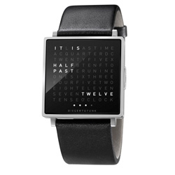 The QlockTwo now comes in a watch form,  QlockTwo W, which spells out  the time in words.