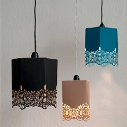 Pretty paper lamps by Inge Simonis.