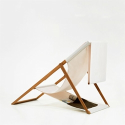 The XZ beach chair from Numen (the group behind the tape and tuft installations!).