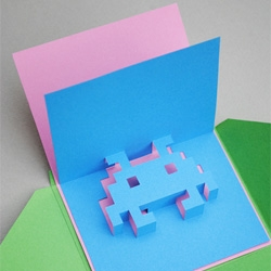 How to make your own 8-bit popup cards.
