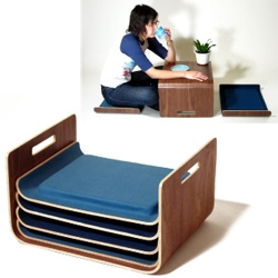Stacking tray seats from Aguiniga Design.