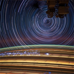 Stunning long exposure photo series of ISS Star Trails captured by NASA's Expedition 31 Flight Engineer Don Petit.