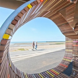The Longest Bench by Studio Weave in Littlehampton consists of an impressively sprawling 2,000-foot-long seaside bench.