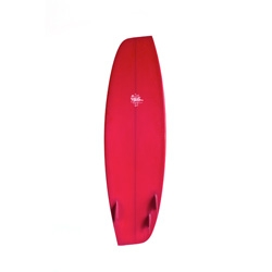 Deus Paralesogram, an asymmetrical surfboard created by surfer and shaper Ryan Burch, the 5'6 Paralesogram.