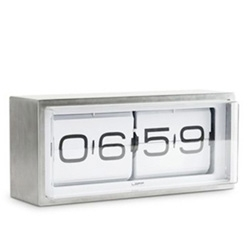 The Brick and Flip clock by Erwin Termaat for Leff Amsterdam.