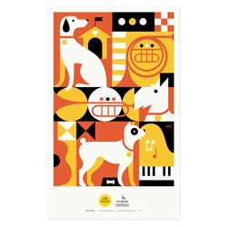 Pets Rock. Purina ONE, sponsors of the 2012 Pitchfork music festival and Zeus Jones created a series of posters celebrating the awesomeness of pets and music. By Lab Partners, Brent Couchman, Tad Carpenter and Eight Hour Day.