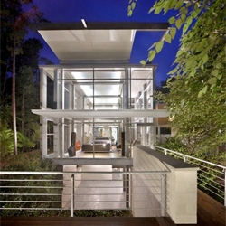 Paletz Moi House in Durham, North Carolina by Kenneth E Hobgood Architects.