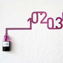Oscar Diaz's Ink Calendar, a calendar using the capillary action of the ink on the paper.