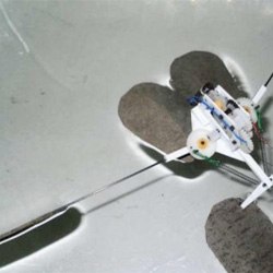 The Harbin Institute of Technology in China have created this robot that can both walk and jump on water.