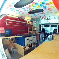 SparkTruck, an educational build-mobile that travels across the US encouraging kids to find their inner maker!