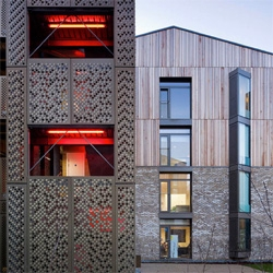 Beautiful new dorms for the Royal Veterinary College's Hawkshead Campus designed by HawkinsBrown.