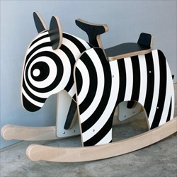 Why rock on a horse when you could have a Rocking Zebra from Newmakers! Check our their facebook page for rocking gorillas, pandas and more!
