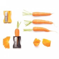 Avichai Tadmor's Karoto, a pencil sharpener for carrots! Designed for Monkey Business.