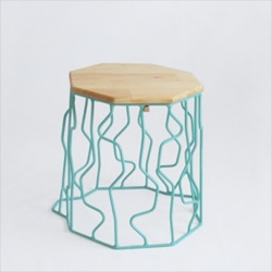 Wire Stump furniture, tree stump inspired stools by Peter Jakubik.