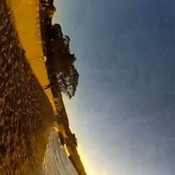 A gull's eye view of a San Francisco sunset. Apparently gulls are Go Pro thieves!
