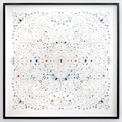 Technological Mandala No. 2 by Leonardo Ulian is a beautifully symmetrical mandala created from carefully soldered electrical components.