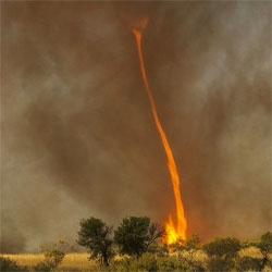 Filmmaker Chris Tangey's stunning footage of a 'fire devil' near Alice Springs, Australia.