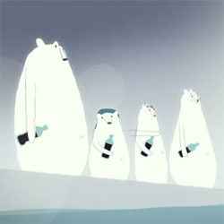 Alex Bogusky's anti-soft drinks short created for the Center for Science in the Public Interest mocking the Coca Cola polar bears.