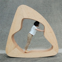 Yuan Yuan's The Cloud House, a rocking chair, a chair-bed and an armchair.