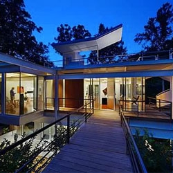 Tonic Design + Construction's contemporary redesign of the Chiles Residence in Raleigh, NC.