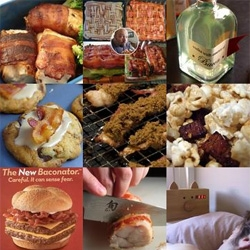 On food trends ~ with over 80 posts on bacon... about 1% of tastespotting is incredible bacon recipes... like vodka, kettle corn, chocolate, spa wraps, scones, cupcakes... here's a roundup of some of the more unique.