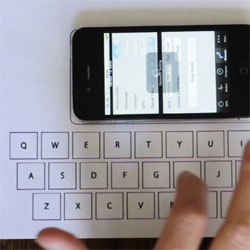 The Vibrative Virtual Keyboard from Florian Kräutli reads vibrations, allowing you to turn any surface into a keyboard.