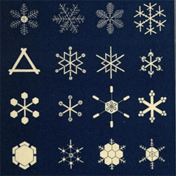 Beautiful geometry in the 1863 publication, Snowflakes a chapter from the book of nature available via Open library.