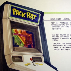 A look at the International Center for the History of Electronic Games's collection of 250 industrial design drawings of arcade game cabinets dating from 1974 to 1989.