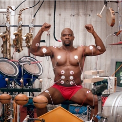 "Muscle Music Old Spice style with Terry Crews - ""Watch me jam solo, then use the special interactive player to record your own remix. Go ahead, show me what you got!"""