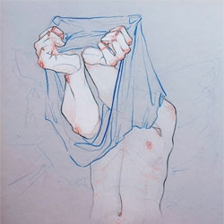 Take Your Clothes Off series by illustrator Adara Sánchez Anguiano.