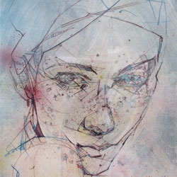 """Head Study 1"", a beautiful new limited edition print from Jason Thielke."