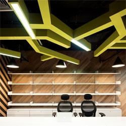 Supermachine Studio's redesigned Saatch & Saatchi offices in Bangkok.