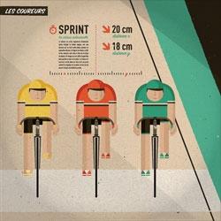 'Ville vs. Vélodrome' series by illustrator Guilherme Henrique.