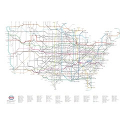 Designer Cameron Booth transforms the US highway system into a subway style map.