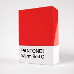 Designers Anonymous 'Warm red' Pantone chip design for a Christmas gift of mulled wine.