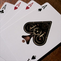 Steampunk playing cards by Theory11.