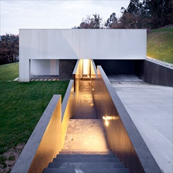 The entrance to Private House by Rui Grazina, a home in Barcelos, Portugal.