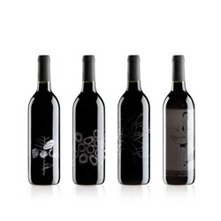 Subtly packaged limited edition cabernet sauvignon by mllongo studio.