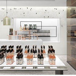 TA-ZE premium olive oil store in Toronto by Burdifilek.