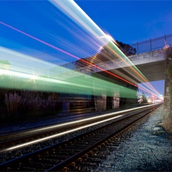 Aaron Durand's stunning photography of trains.