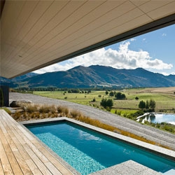 The Hawkesbury Reisdence by Marmol Radziner in Mt Barker, New Zealand makes the most of its stunning views.