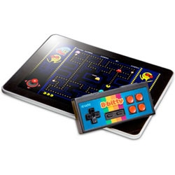 The icade 8-bitty is a retro wireless game controlled for your ipad/iphone/android.