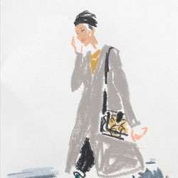 London fashion week captured in quick sketches by Damien Florébert Cuypers.