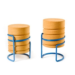 Manuel Welsky's corkscrew inspired, height adjustable stool 'Scrw'.
