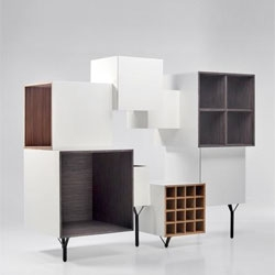 Playful shapes and textures make up the Free Port cabinet by Martí Guixé  for BD Barcelona.