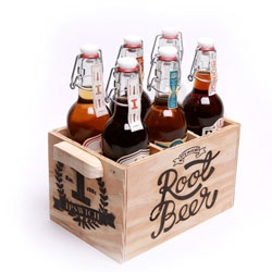 James Utley, Keith Jernigan, Aubree Barnett, Zack Gulliani and Jordan Bell's conceptual packaging for Ipswich brewing Company Root Beer.
