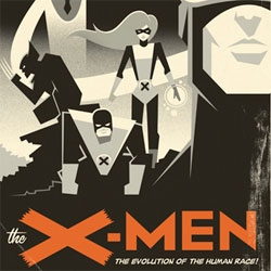 An AWESOME art deco style X-Men Poster by Eric Tan