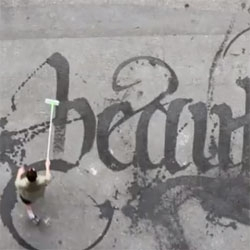Sweeping Beauty, beautiful Calligraffiti by Niels Shoe Meulman.