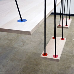 Rodrigo Caula's Eat & Play Table and Chairs, a swinging set of table and chairs.